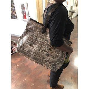 Etro Paisley Print Large Tote Bag